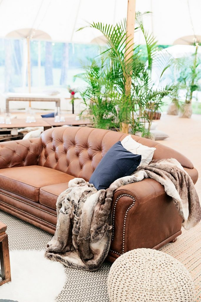 Leather Chesterfield Lounges  $300 each