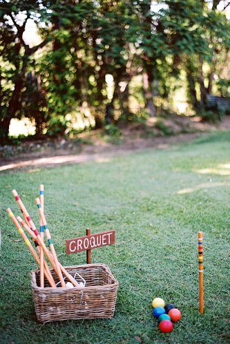 Croquet with Basket & Sign  $65